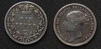 ヴィクトリア女王ヤングヘッドの6ペンス