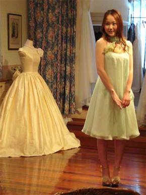 ウェディングドレスをリメイクしてフォーマルドレスを作りました