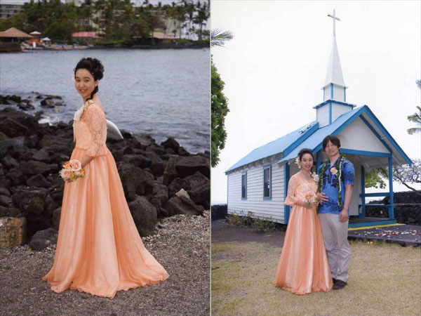 ハワイでの結婚5周年記念セレモニー