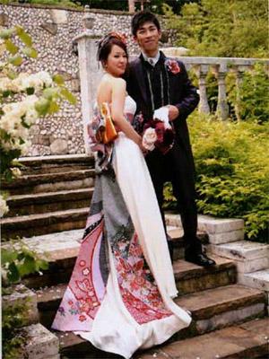 七五三お着物を利用したリメイク和服ドレス