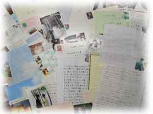ウェディングドレスをオーダーされたお客様よりたくさんのお礼状、お手紙、お写真をいただきました。
